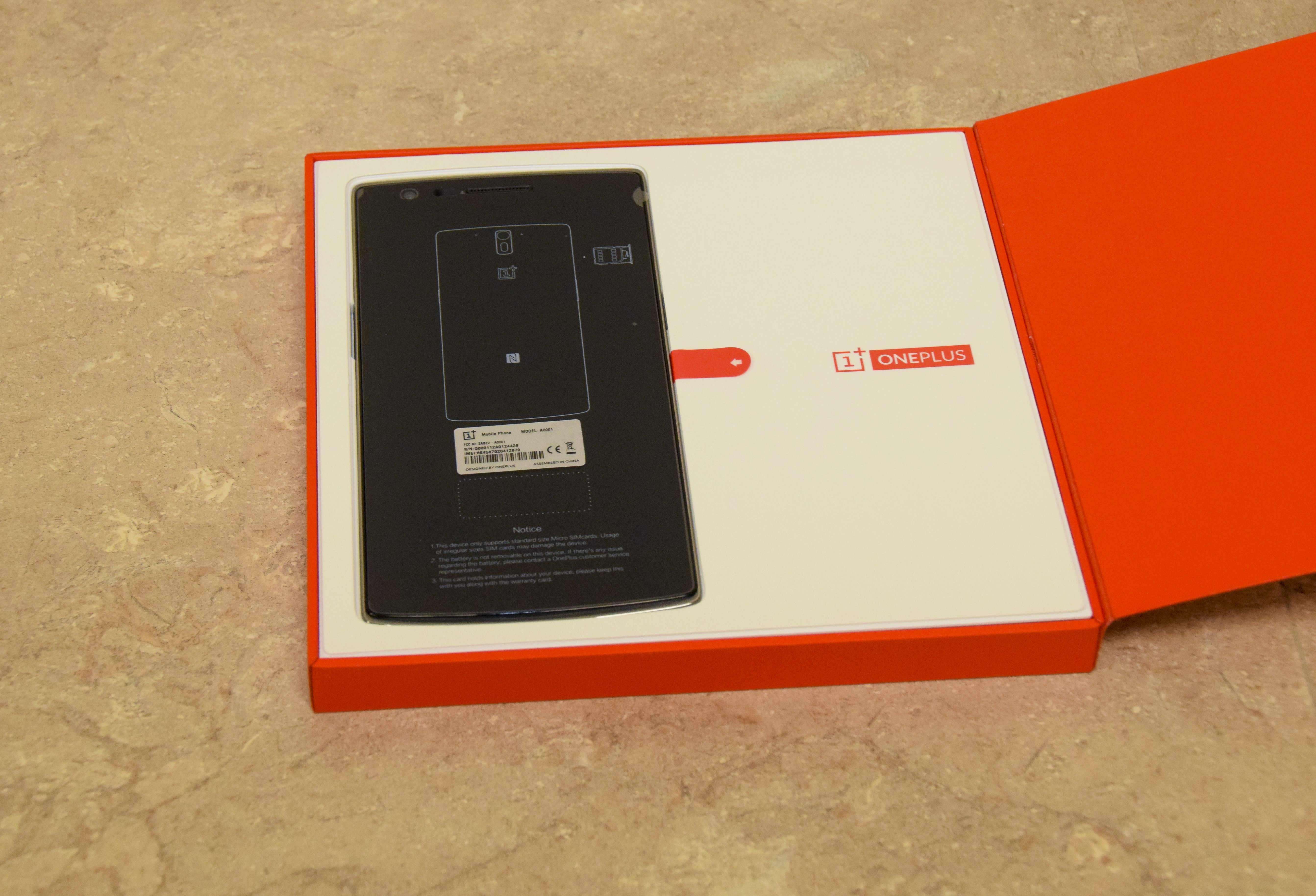 OnePlus One Box Opened
